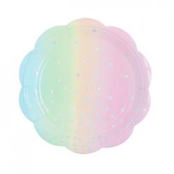 "Iridescent 7"" Paper Plate, 10pcs"