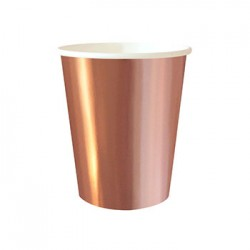 Rose Gold Foil 9oz Paper Cup, 10pcs
