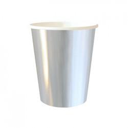 Silver Foil 9oz Paper Cup, 10pcs