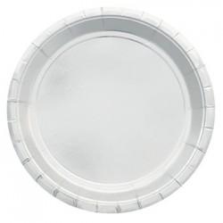 """Silver Foil 9"""" Paper Plate, 10pcs"""